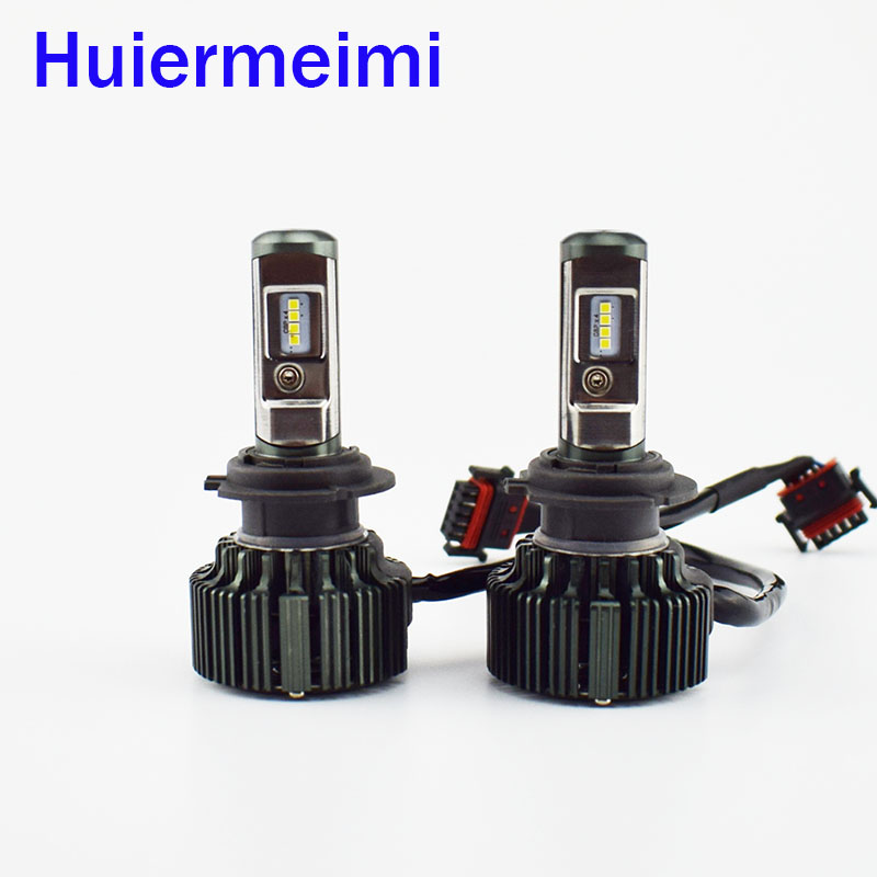 Car Headlight Bulb Lumileds LED chip 12V 24V Hi Lo Beam Automotive head Light Lamp Auto headlamps H11 H4 H7 9005 9006 H1 H3 880 newest h4 led car headlight h1 h8 hig led light 9005 9006car led headlight bulb auto headlamp lamp high low beam white lighting