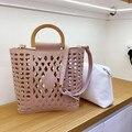 Женские сумки  2019  знаменитые бренды  с отверстиями  пляжная сумка для женщин  женская сумка-тоут  сумка через плечо из искусственной кожи  су...