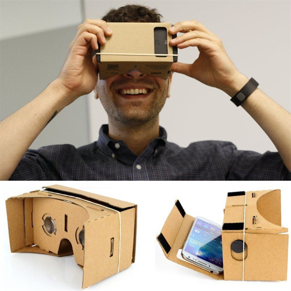 DIY Magnet Google Cardboard Virtual Reality VR Mobile Phone 3D Viewing Glasses For 5.0 Screen Google VR 3D Glasses