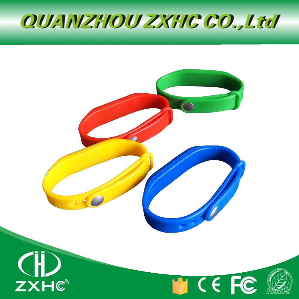 3pcs/lots New 125khz Adjustable Silicone Waterproof RFID Wristband Bracelet TK4100 ID Tags