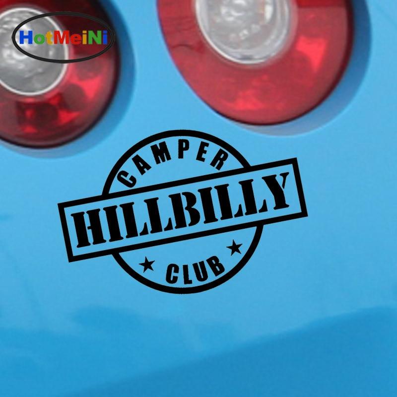 Exterior Accessories Enthusiastic Hotmeini 14cm*9.5cm 10 Colors English Alphabet Creative Hillbilly Camper Club Car Sticker Waterproof Reflective Vinyl Sticker