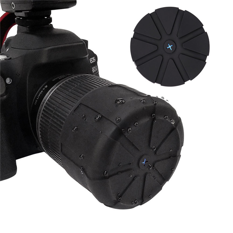Lens cap Universal Waterproof Anti-Dust Silicone Protector Lens Cover protective For most DSLR camera Fallproof SLR Camera image