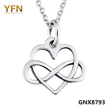 GNX8793 100% Actual Pure 925 Sterling Silver Infinity Coronary heart Pendant Necklace Trend Jewellery Valentine's Presents For Girls