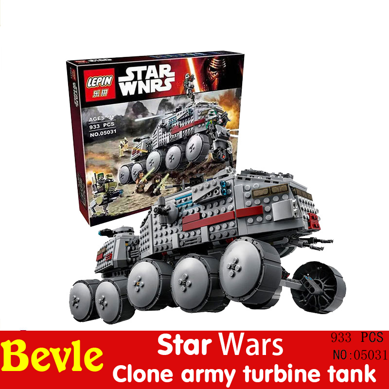 Lepin 05031 93LEPIN Star Wars Clone Turbo Tank Building Minifigures Blocks Compatible with Legoe 75151 With Original Box