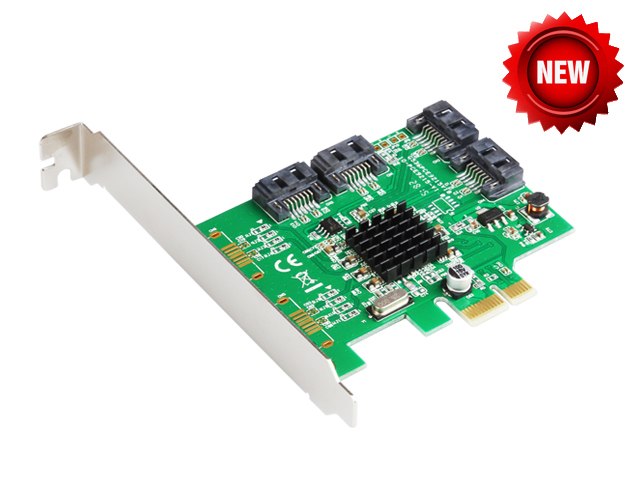 Marvell 88SE9215 4 Ports SATA 6G PCI Express Controller Card PCI-e to SATA III 3.0 converter PCI low profile bracket SATA3.0 Звуковая карта