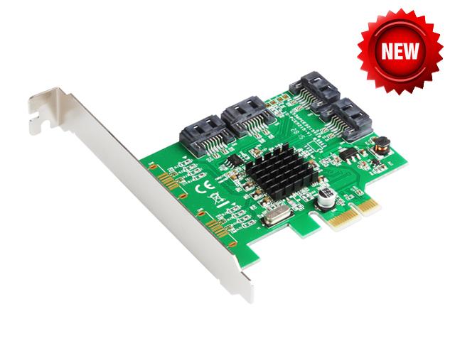 Prix pour Marvell 88SE9215 4 portos SATA 6 G PCI Express carte contrôleur PCI - e pour SATA III 3.0 convertisseur PCI low profile bracket SATA3.0