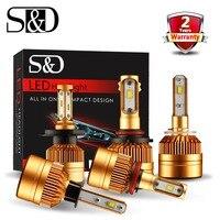 2Pcs H1 LED Headlight Car Bulbs H7 H11 H8 H9 H4 H3 9005 9006 LED Car