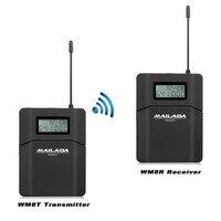 Mailada WM8プロフェッショナルuhfワイヤレスマイクシステムラベリアラペルマイクマイクシステム受信機+トランスミッタ用ビデオカメラレコーダーF1431A