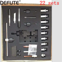 22 kits diesel common rail injector disassemble tools set for bosch denso injector dismounting tools