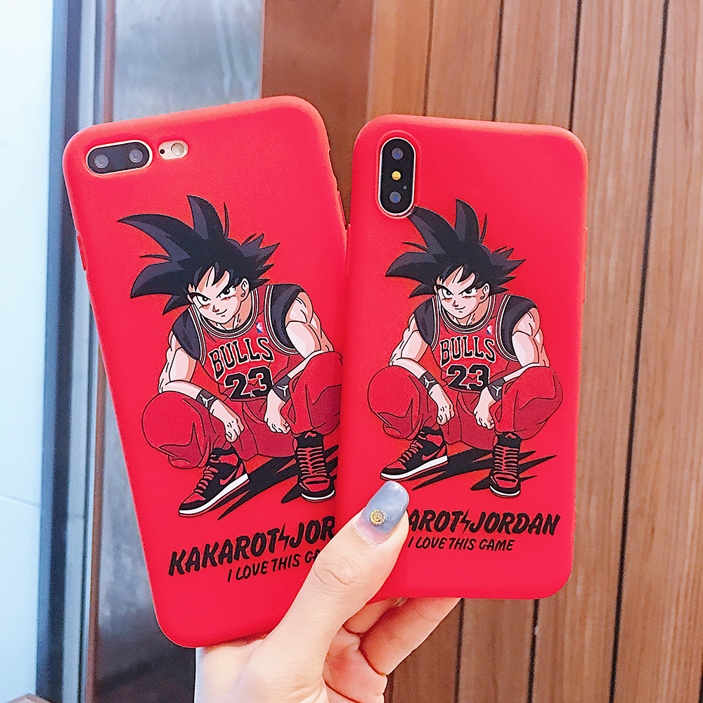 dfb6039e16d Dragon Ball Jordan 23 Phone Case for iPhone XS MAX X XR XS Back Silicone  TPU Coque Cover For iPhone 6 6S 7 8 Plus Cases Etui