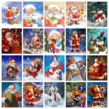 5d Tam Kare Elmas Boyama Nakış çapraz Dikiş Noel Baba Noel Hediyesi