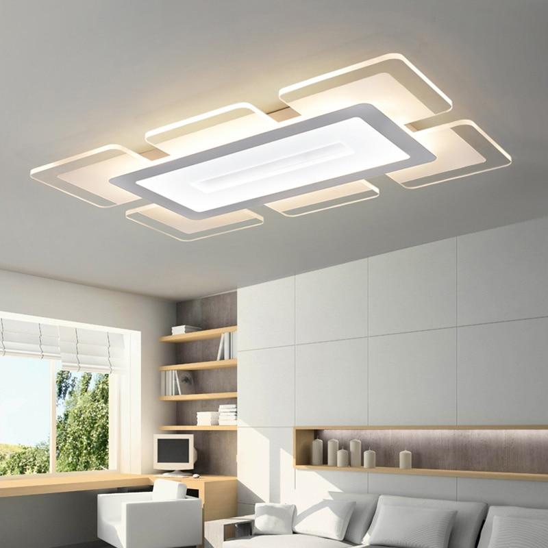 Sky City ultra-plānas Led griestu lampas caurspīdīga akrila korpuss 36W / 46W / 52W / 76W Plafondlamp Luminarias Para Teto Bezmaksas piegāde