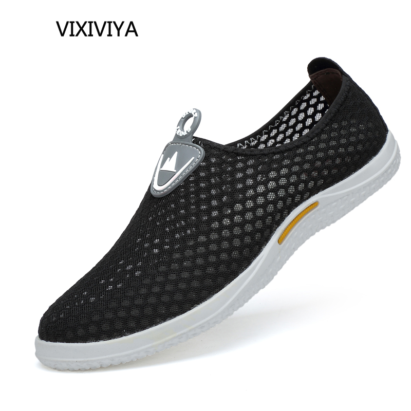 2018 new men's casual shoes summer breathable mesh shoes men loafers - Men's Shoes - Photo 1