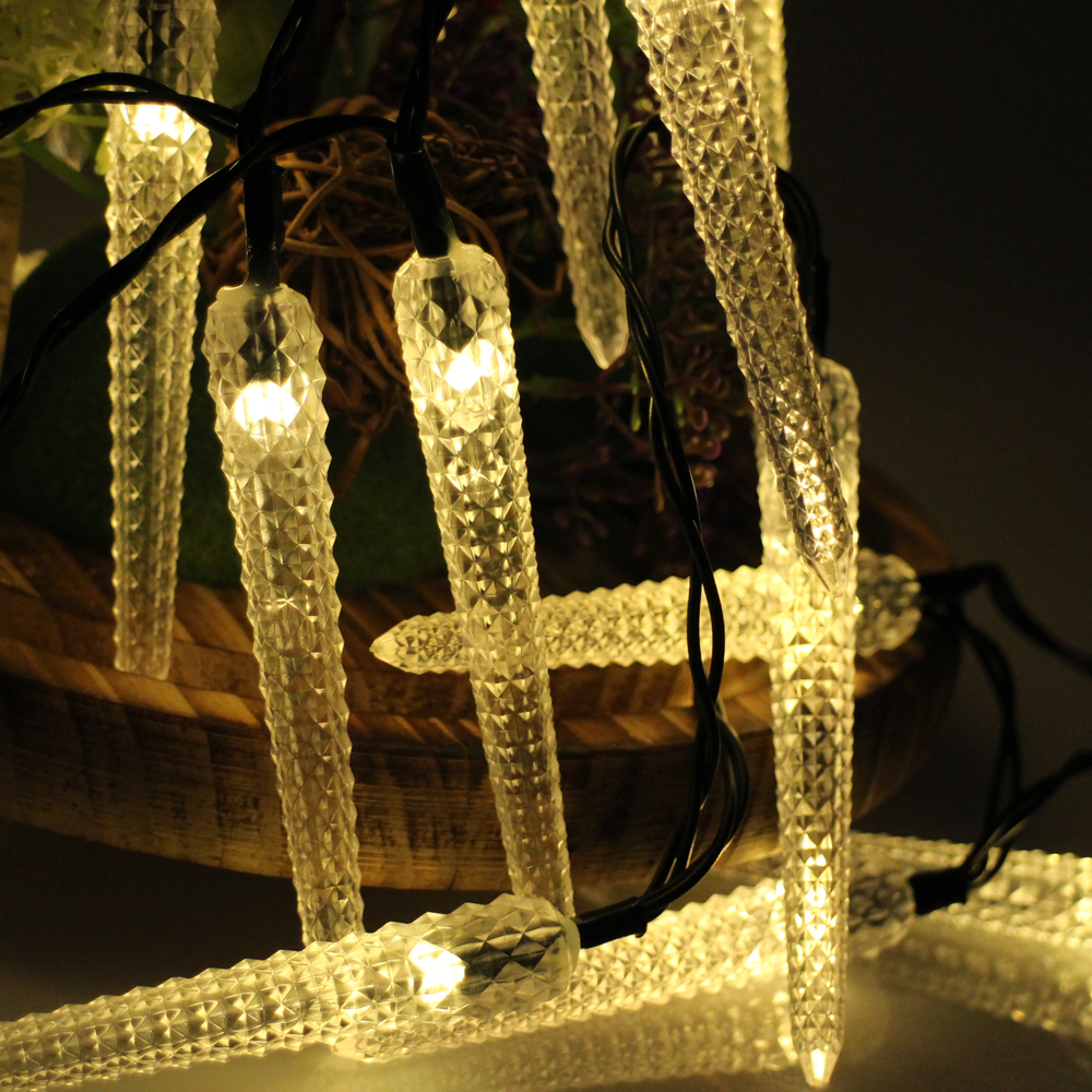 6m 30LED Decoration <font><b>Icicle</b></font> LED String <font><b>lights</b></font> Christmas New year Holiday Party Wedding Lamp lighting Bedroom Lumiere