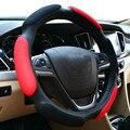 Tampa Da Roda de Direcção do carro Conjuntos de rodas de tamanho médio de 38 cm para a maioria de carro sanduíche ou tecido de camurça interior de Direção-roda de cobre