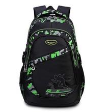 High capacity Children school bags for boys waterproof printing backpacks male travel bag Satchel Knapsack Mochila schoolbags