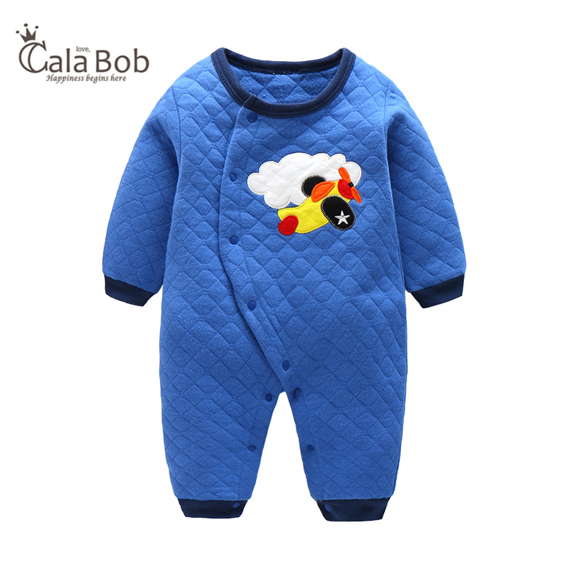 CalaBob Winter Baby Rompers Long Sleeve Cotton Overalls Baby Clothing Cartoon Baby Boy Girl Romper Jumpsuit Newborn Baby Clothes baby overalls long sleeve rompers clothing cotton dog anima 2017 new autumn winter newborn girl boy jumpsuit hat indoor clothes