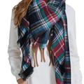 high quality za Winter Scarf Plaid Scarf Designer Unisex Acrylic Basic Shawls Women's Scarves