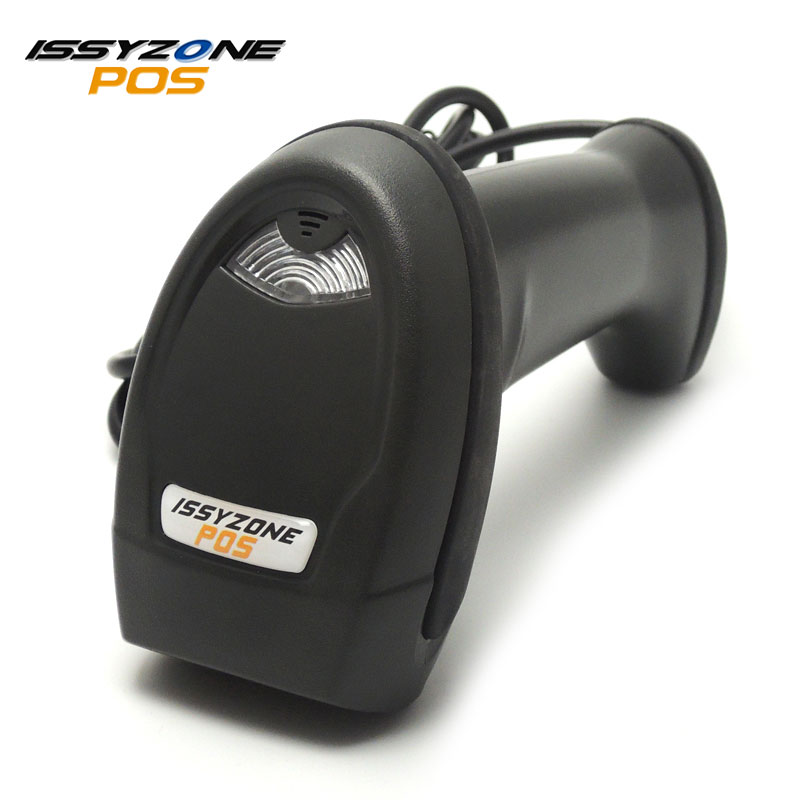 ISSYZONEPOS USB Wired Laser 2D Barcode Scanner with stand USB QR Code Reader Be Used to Supermarket Warehouse Library