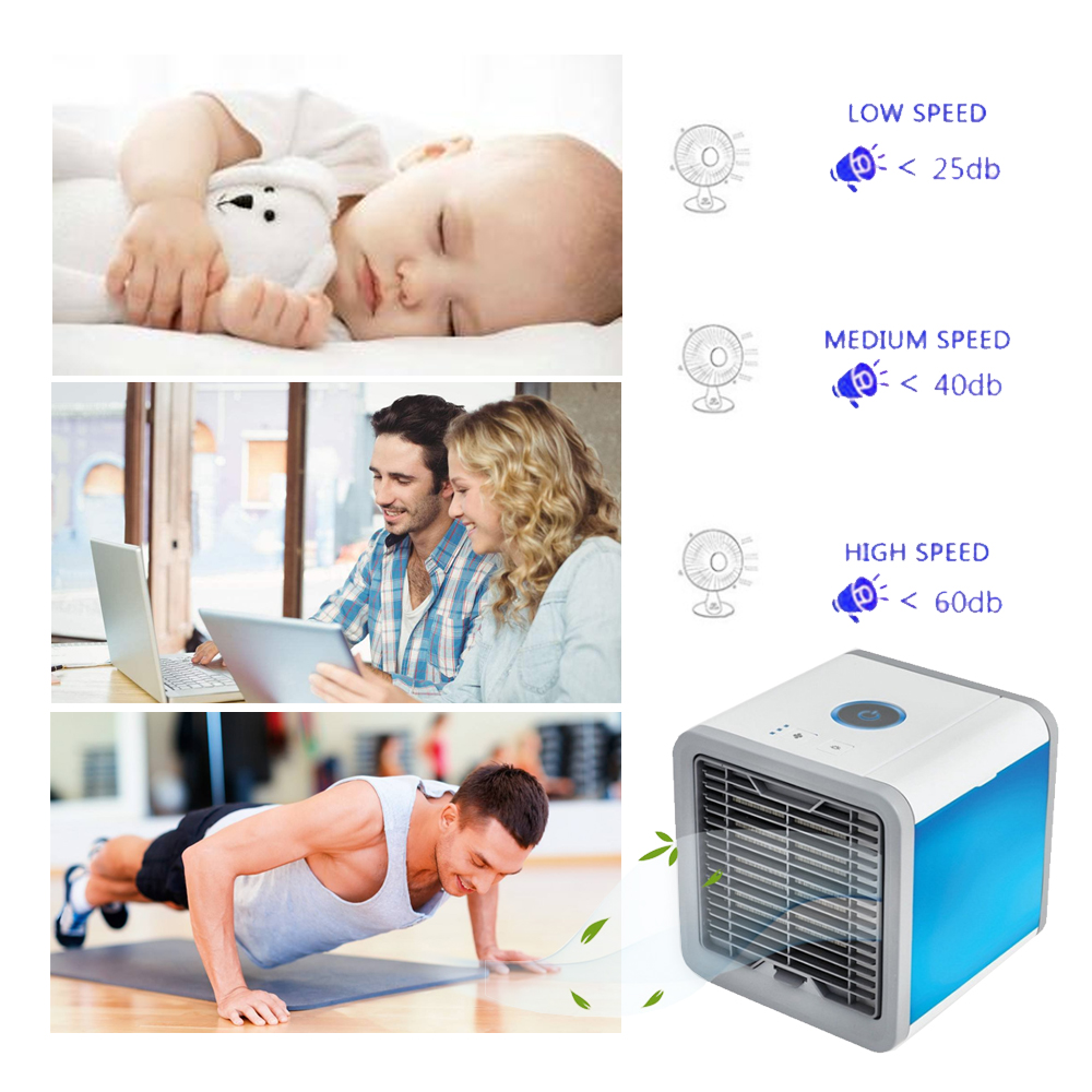 HTB1TM9ma.LrK1Rjy0Fjq6zYXFXaF USB Mini Portable Air Conditioner Humidifier Purifier 7 Colors Light Desktop Air Cooling Fan Air Cooler Fan for Office Home