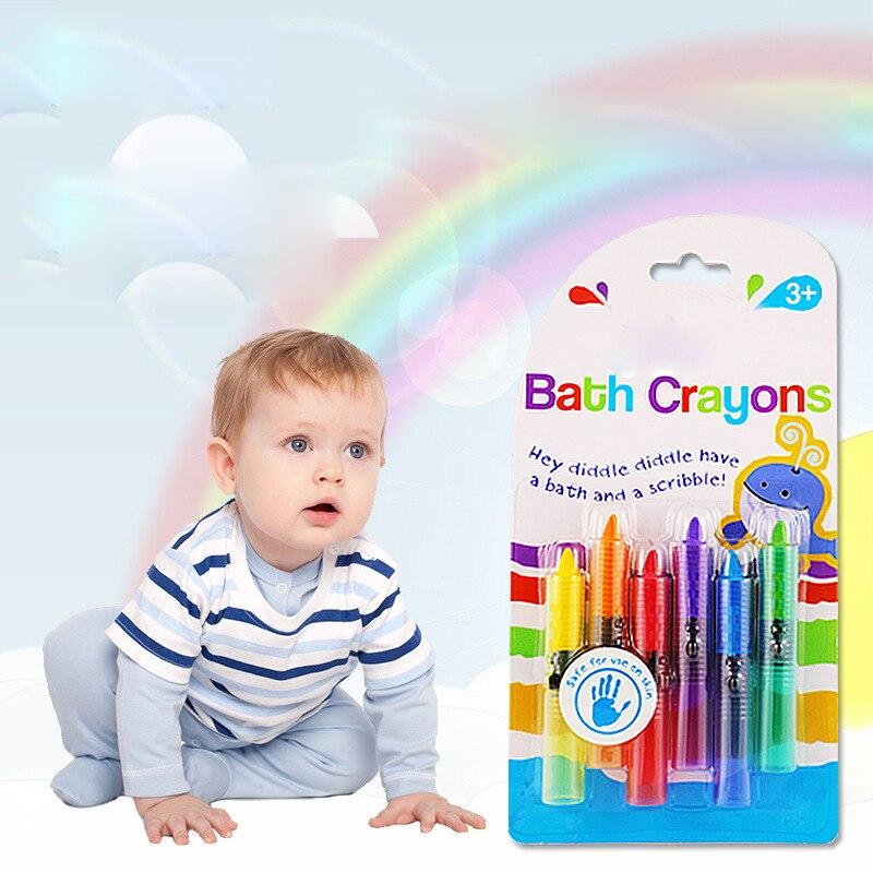 6 шт./лот игрушки для ванной рисунок пером моющийся малыш душ время весело играть перо образования Детский рисунок игрушки