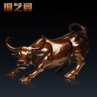 Cu Yi Ge licht koperen vee bull Zhaocai Muur Straat decoratie decoratie relatiegeschenken twaalf zodiac vee