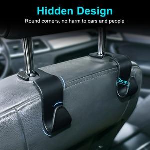 Image 4 - Universal Car Seat Hook Auto Back Seat Headrest Organizer Hanger Storage Holder for Groceries Bag Cloth Handbag Durable