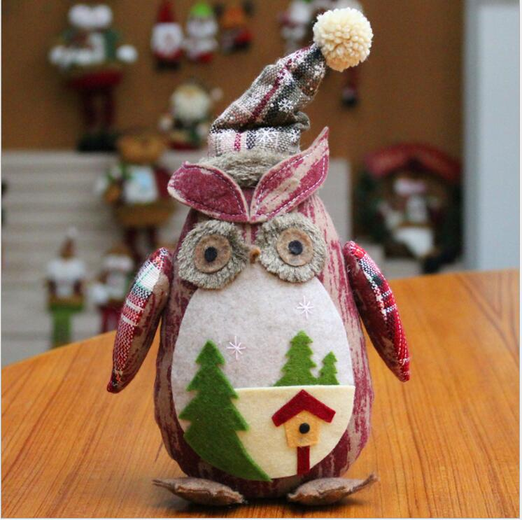 2018 navidad christmas holiday figurines owl christmas decorations for home new year decorations christmas gift in pendant drop ornaments from home