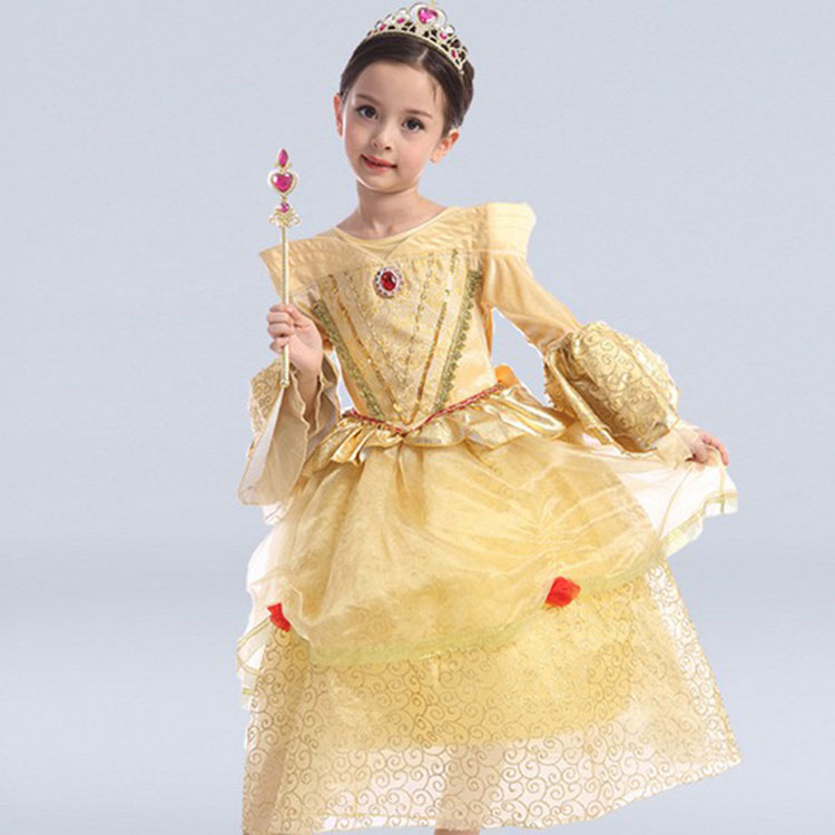 Baby Girl Dress Elsa Anna Cosplay Costume Party Festival Princess Dresses with Cloak Snow Queen Crystal Kids Clothes