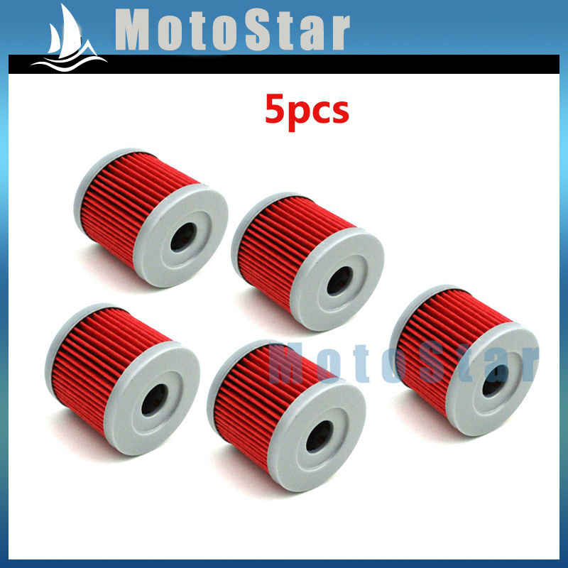 5pcs Oil Fuel Cleaner Filter For Sinnis Apache 125 K157FMI 125cc QM125GY