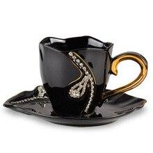 Personalisierte Luxus Geschenke China Kaffeetasse Gesetzt Erweiterte Diamante Tee Becher Keramik Paar Tassen Porzellan