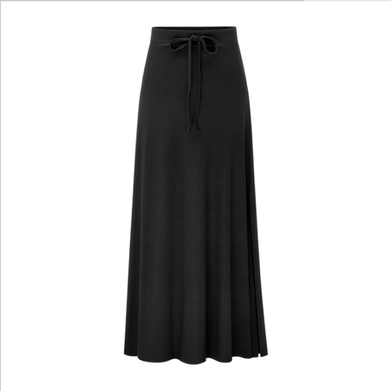 Bigsweety High Quality Women Pleated Long Skirt Fashion Slit Belted Maxi Skirt Autumn Winter High Waist Vintage A-Line Skirts 10