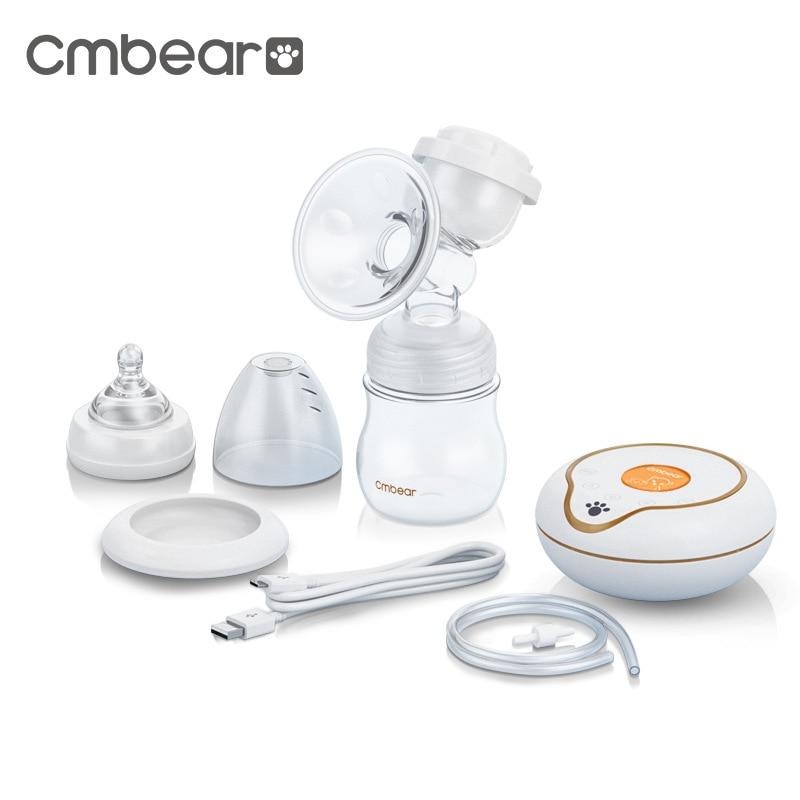 CMbear Nine-section Adjustable Electric Breast Pump Maternal Infant Milk Feeding Collector Advanced Massage Manual Breast Pump ...