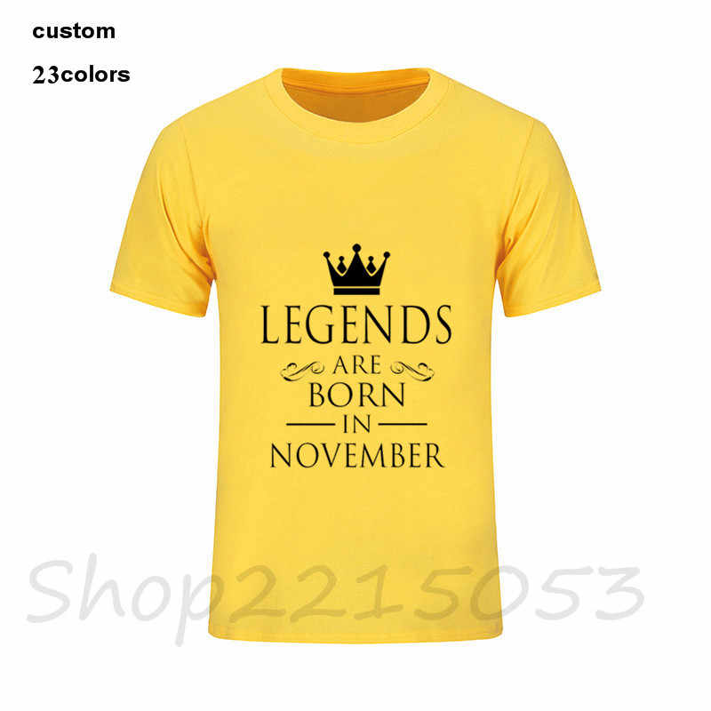 889560701 ... 2019 streetwear LEGENDS ARE BORN IN NOVEMBER Men's T-Shirt military  father's day birthday gift ...