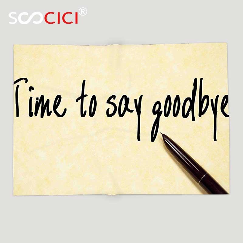 Пользовательские мягкого флиса Пледы Одеяло уходит партии Аксессуары время прощаться почерк чернилами и Бумага свет