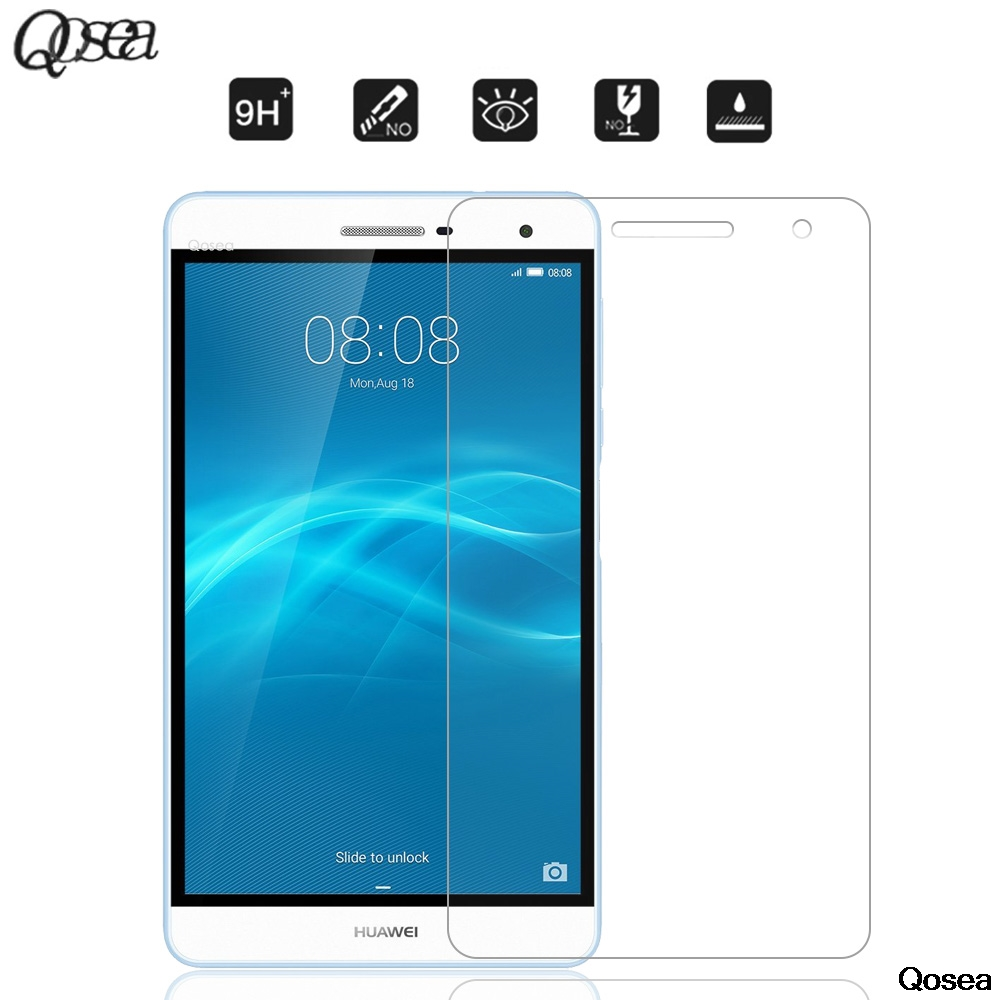 Qosea Pour Huawei MediaPad T2 Pro 7.0 Trempé 9 H Verre 2.5D Arc Clair Résistant Aux Rayures Protecteur D'écran Film haute Qualité