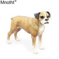 Mnotht Mini Dog Model 1/6 Boxer Standing Dog Toy Animal Resin Scene Accessory for Action Figure Collection Decoration Gift