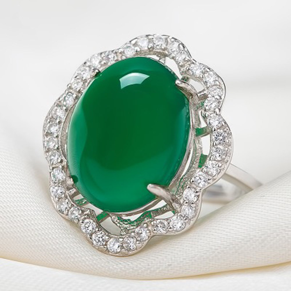 Wedding Ring Styles: New Style Luxury Natural Green Wedding Rings Big Fine