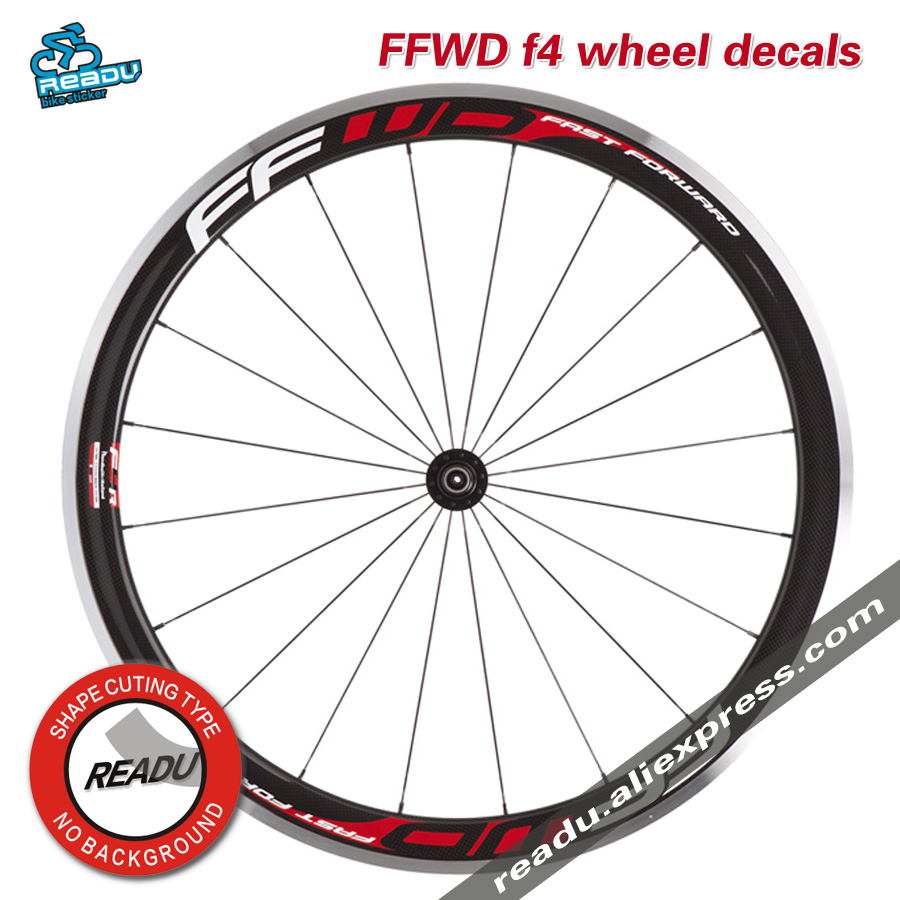 Hot Outdoor Bicycle Sticker FFWD f4 road Bicycle wheel Group stickers Suitable for 38/40 rims for two wheel decals bike sticker