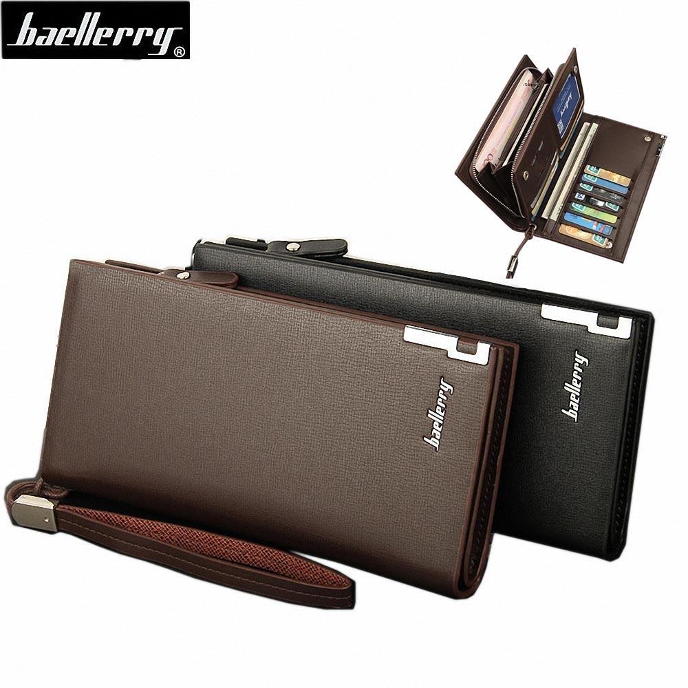 Ny anländer 4 Färg varumärke handväskor män multifunktionella dragkedja plånbok lång handväska multi kort hög kapacitet plånbok