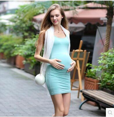 Summer Maternity Sexy Elasitic Slim Model Slim Bodycon ...