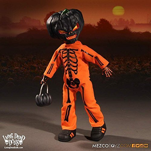 цена на New Mezco Toys Living Dead Dolls Halloween 2016 Jack O Lantern 25CM Action Figure Toys 3 Version