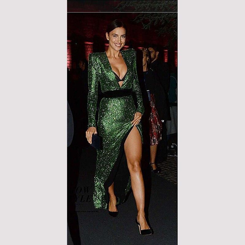 Longueur parole Designer Manches 3 Party Marron V À Rouge Couleurs Cou Sexy 2017 Femmes Vert Celebrity vert Longues rouge Élégant Bandage D'été Brun Robe rPvSr
