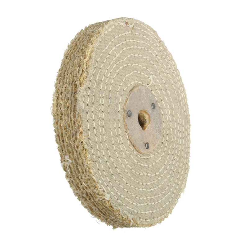 6'' Cloth Buffing Wheel Polishing Disc Pad For Stainless Steel Metal Polishing Abrasive Tools 150*20mm fiber polishing buffing wheel grit nylon abrasive 25mm thickness 7p hardness 32mm id