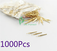 دبابيس لاصقة نحاسية لمختبر الأسنان 1000 قطعة #2 متوسطة