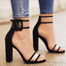 LALA IKAI Plus 10 11 12 Size Sexy Sandals Women Thick High Heels Ankle Strap Zapatos Mujer Sandalias Mujer For Ladies XWC0724-5