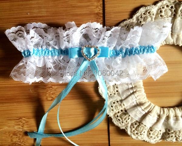 sexy conception de marie jarretelles jarretire mariage coffret cadeau femmes blanc bleu dentelle coeur diamante pour - Achat Jarretire Mariage