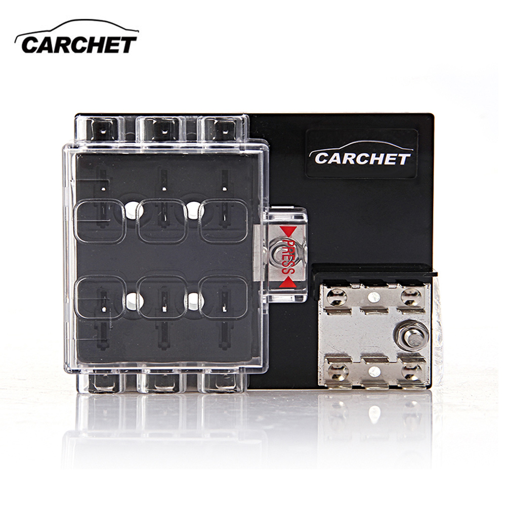 carchet universal fuse box board 6 way block circuit fuse. Black Bedroom Furniture Sets. Home Design Ideas