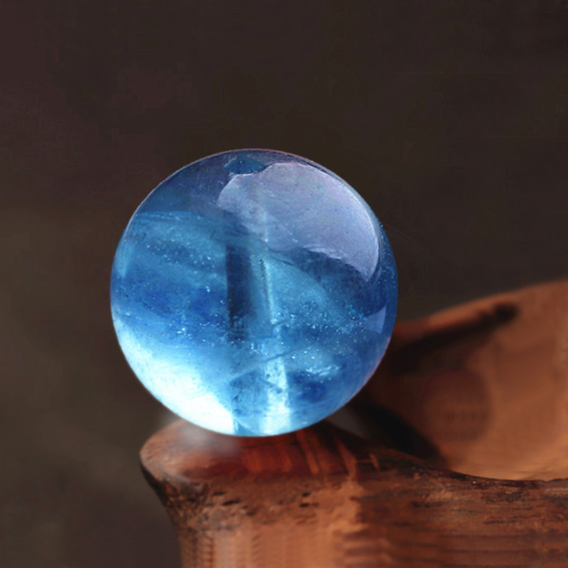 7A Grade Natural Sea Blue Treasure Loose Beads 4-12mm Water Run Through Blue Sea DIY Bracelets Treasure Bracelet Accessories