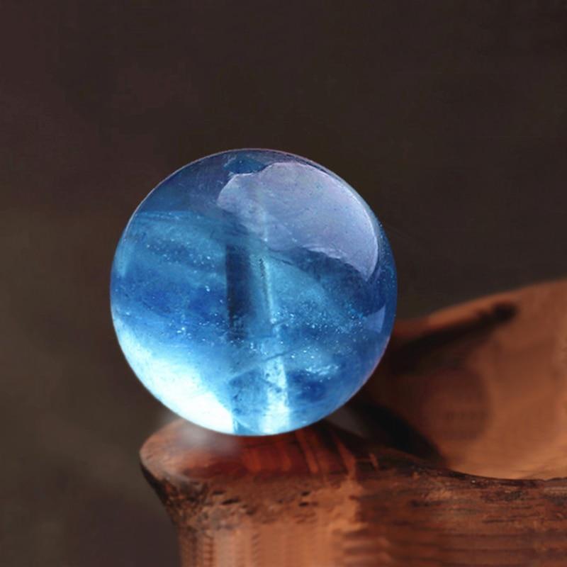 7A Grade Natural Sea Blue Treasure Loose Beads 4-12mm Water Run Through Blue Sea DIY Bracelets Treasure Bracelet Accessories